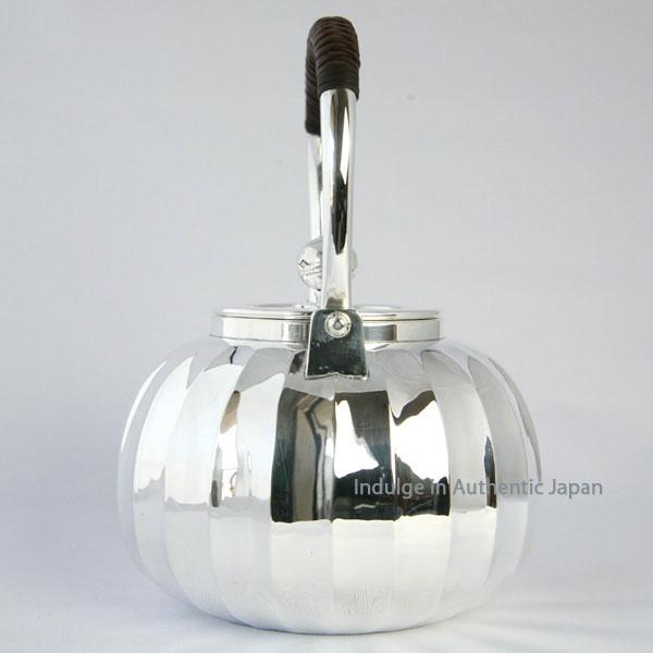 纯手工制作 纯银烧水壶 茶壶 汤沸 日本传统工艺士作